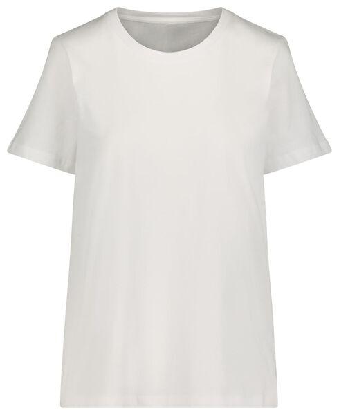 dames t-shirt katoen wit wit - 1000021136 - HEMA