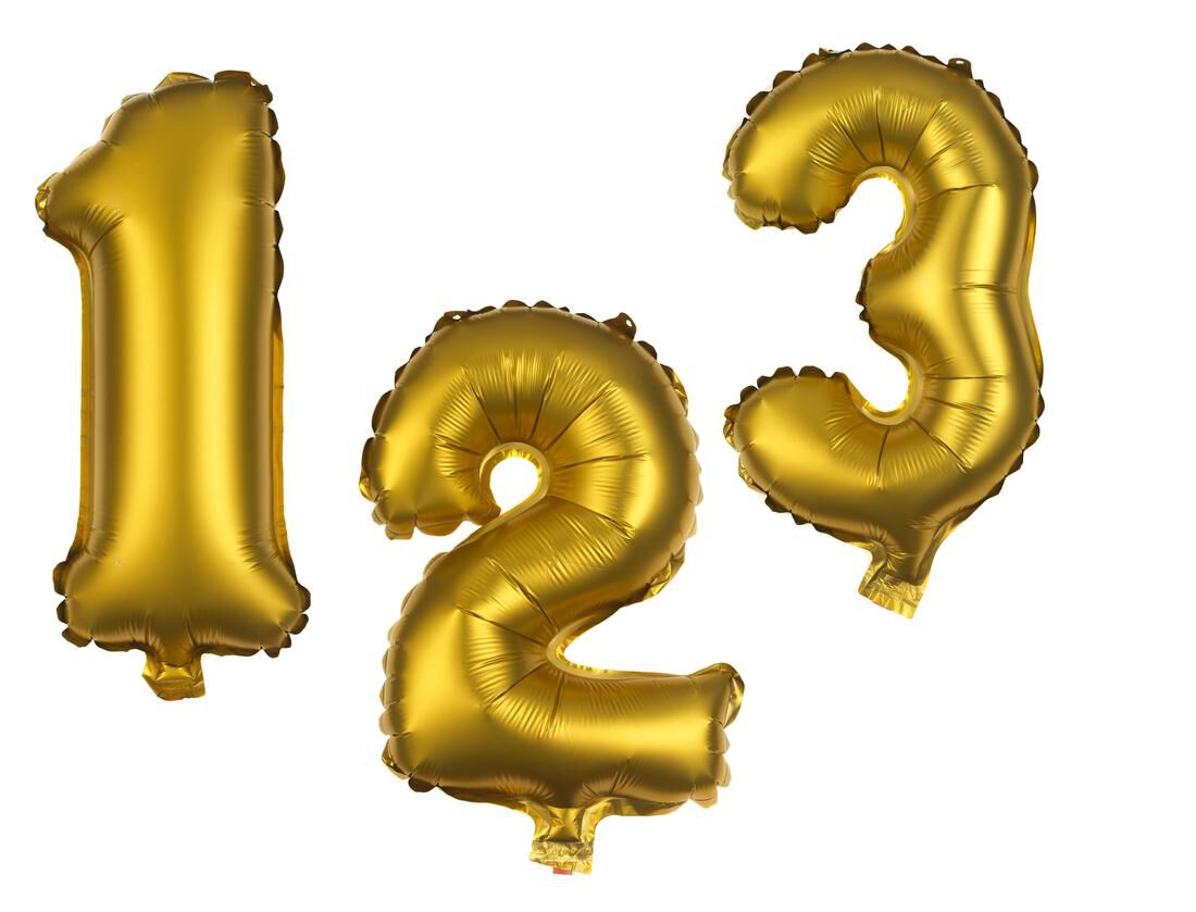 HEMA Folieballon Cijfers 0-9 Goud (goud)