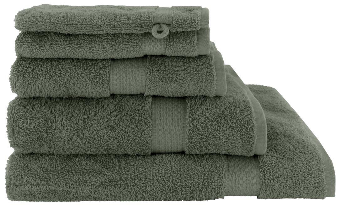 HEMA Handdoeken - Zware Kwaliteit Legergroen (legergroen)