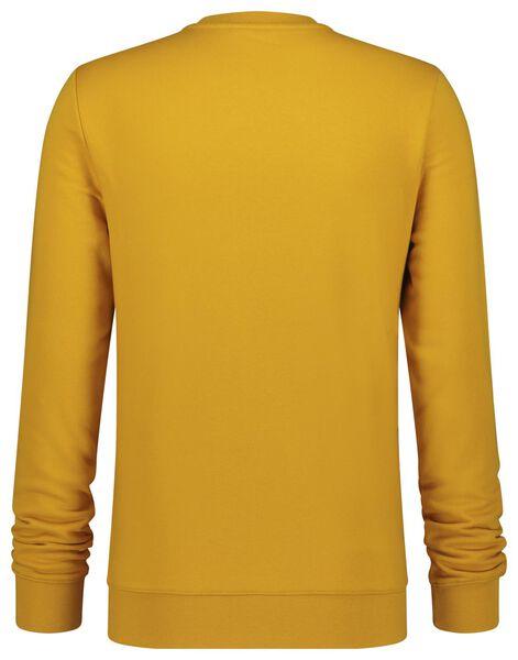 herensweater crewneck geel geel - 1000020878 - HEMA