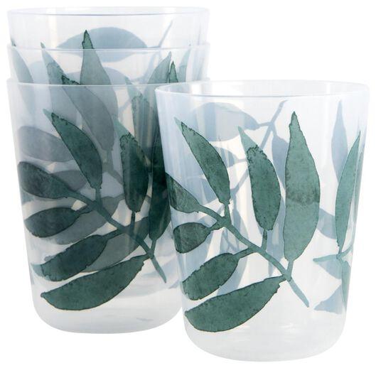 Bekers herbruikbaar 200ml bladeren - 4 stuks