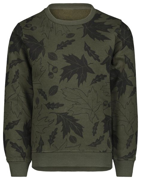 kindersweater donkergroen donkergroen - 1000021058 - HEMA