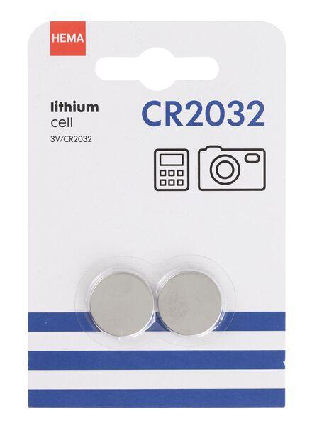 2-pak CR2032 batterijen - 41290277 - HEMA