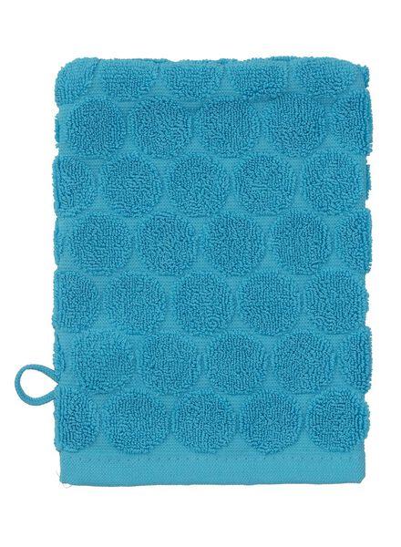 washand - zware kwaliteit - aqua stip aqua washandje - 5200066 - HEMA
