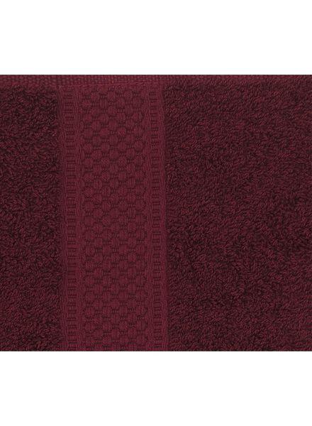 handdoek - 60 x 110 cm - zware kwaliteit - bordeaux - 5220005 - HEMA
