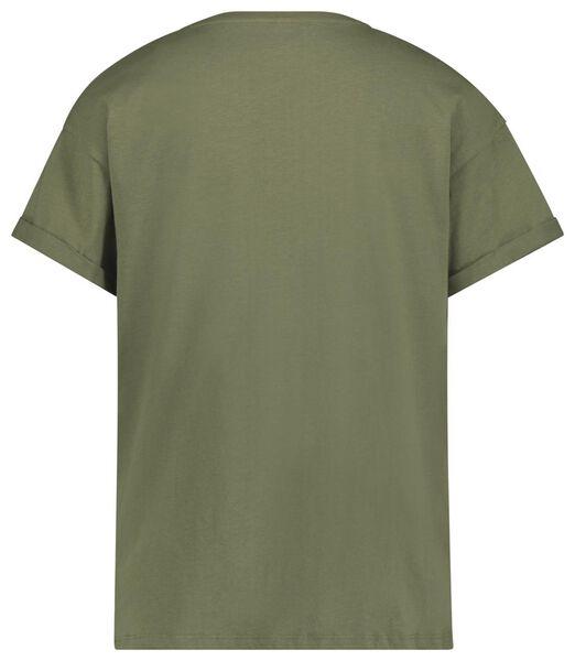 dames t-shirt olijf olijf - 1000019870 - HEMA
