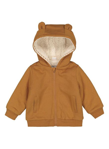 baby sweatvest bruin bruin - 1000014889 - HEMA