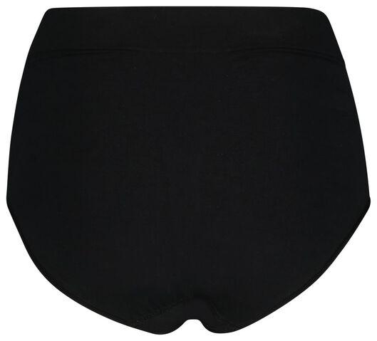 damesslip hoge taille firm control zwart XL - 21500143 - HEMA