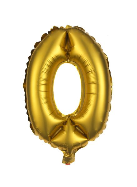 foilballon 0 - goud - 60800079 - HEMA