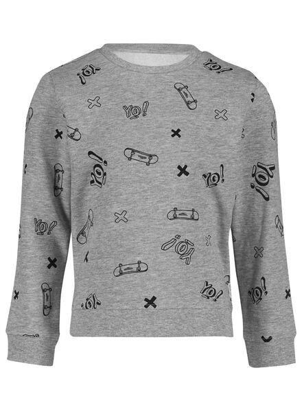 kindersweater grijsmelange grijsmelange - 1000015595 - HEMA