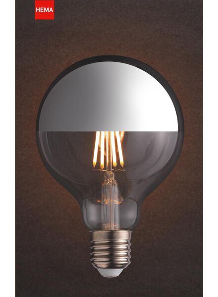 LED lamp 4W - 280 lm - globe - kopspiegel zilver - 20020061 - HEMA