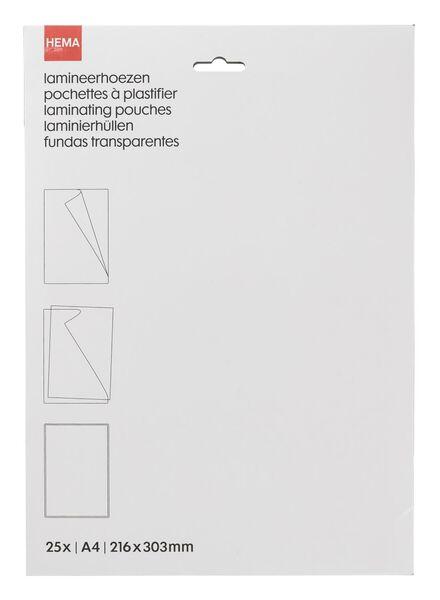 25-pak lamineerhoezen A4 - 38370020 - HEMA