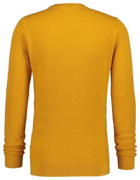 herentrui structuur crewneck geel geel - 1000020897 - HEMA