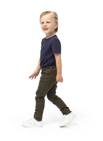 kinder t-shirt - biologisch katoen donkerblauw 134/140 - 30729264 - HEMA