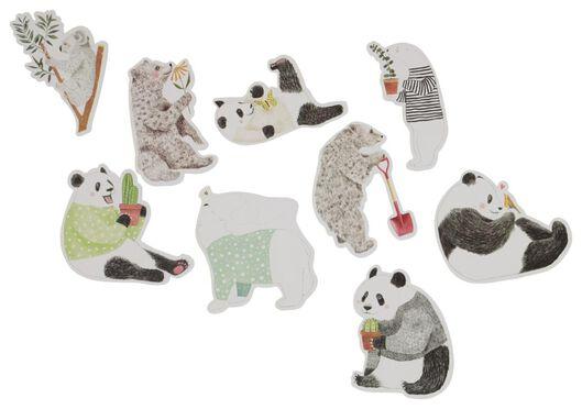 stickers XL panda 15 stuks - 14150077 - HEMA