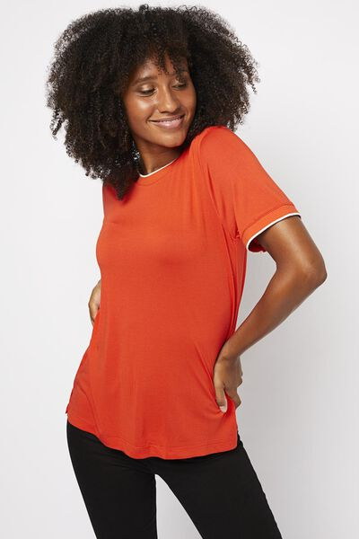 dames t-shirt oranje oranje - 1000021244 - HEMA