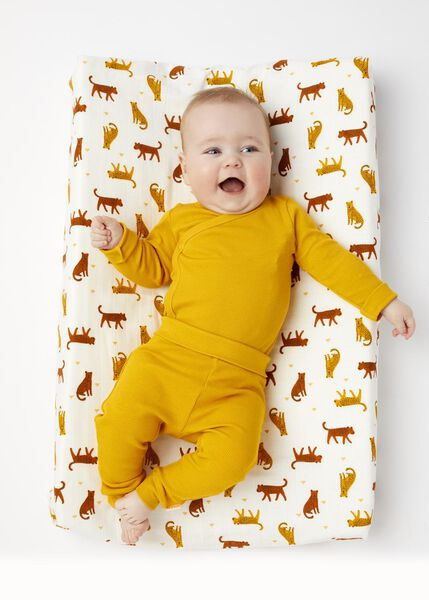newborn-prematuur broek bamboe stretch geel geel - 1000013405 - HEMA