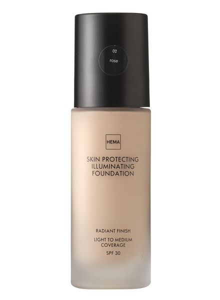 skin protecting illuminating foundation Rose 02 - 11291202 - HEMA