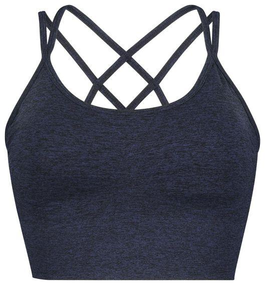 dames sportbh medium donkerblauw donkerblauw - 1000019846 - HEMA