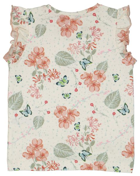 baby t-shirt ruffle bloemen multicolor multicolor - 1000023365 - HEMA