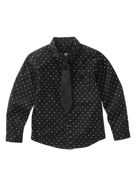 kinderoverhemd zwart zwart - 1000011080 - HEMA