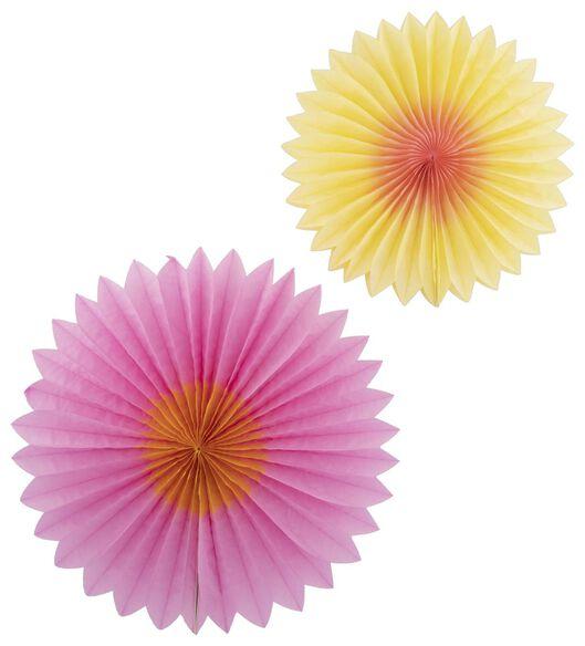 waaiers honeycomb - 2 stuks - 14200426 - HEMA