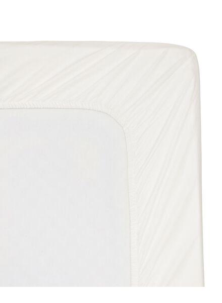 hoeslaken - hotel katoen satijn - 160 x 200 cm - wit - 5140046 - HEMA