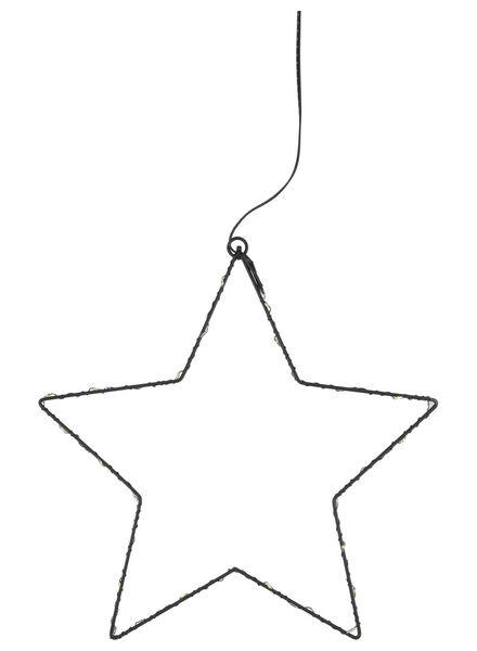 glazen ster hanger met LED lampjes - 25500071 - HEMA
