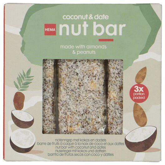 Notenrepen met kokos en dadels