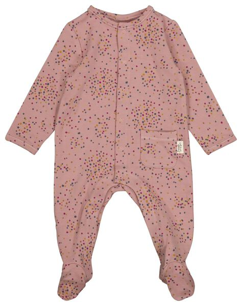 newborn jumpsuit sweat met bamboe roze roze - 1000025155 - HEMA