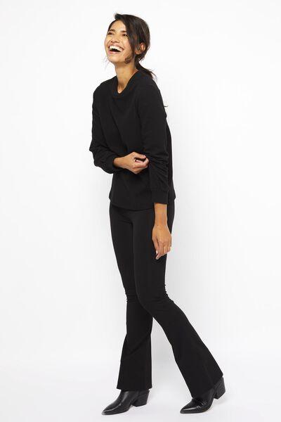 dames top structuur zwart zwart - 1000021985 - HEMA