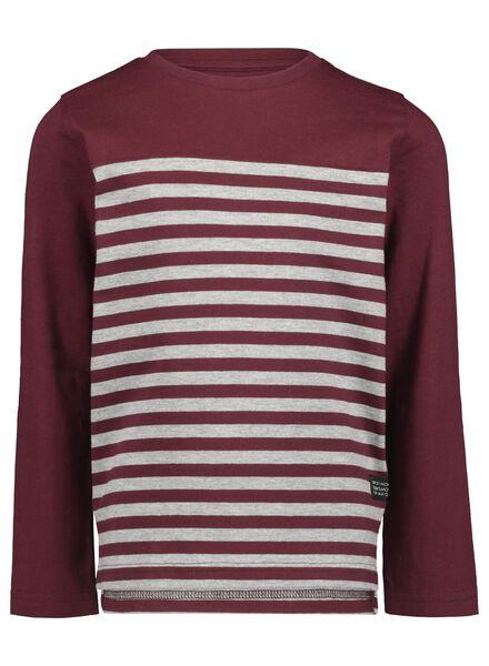 kinder t-shirt wijnrood wijnrood - 1000017042 - HEMA