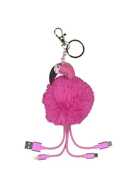 laadkabel 3-in-1 flamingo - 39600230 - HEMA
