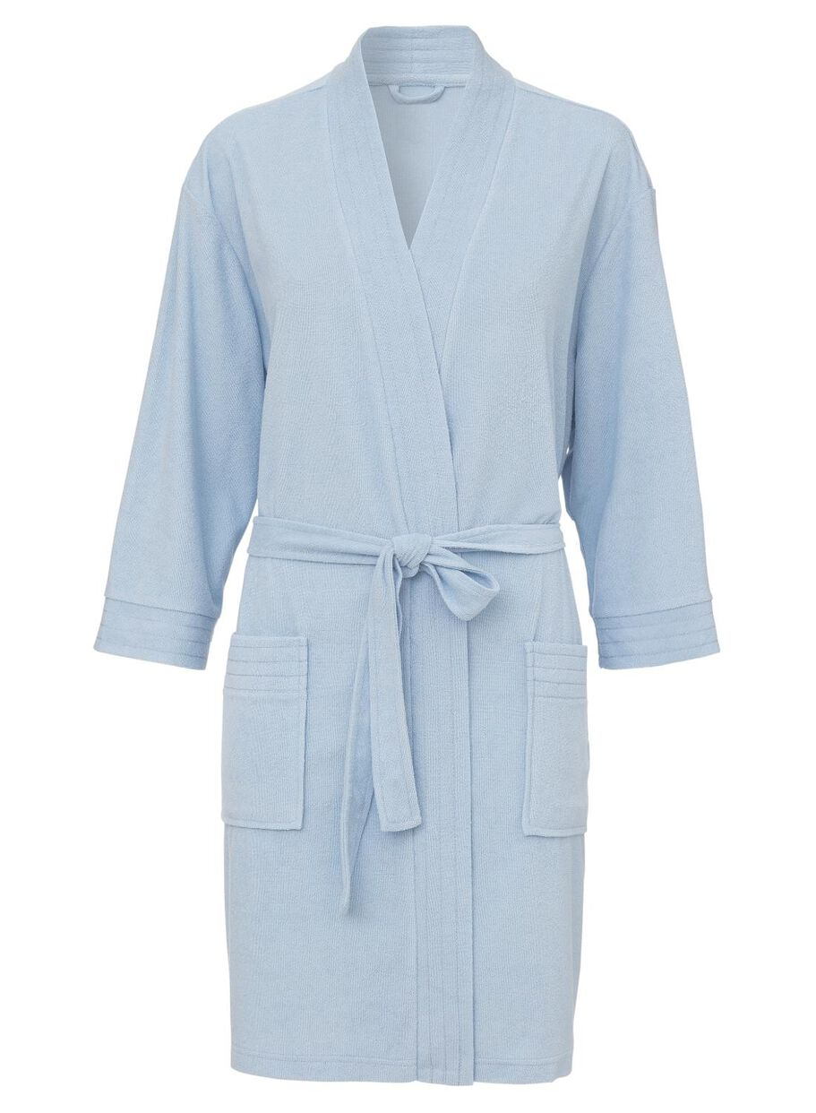 5575a5264c1 dames badjas badstof lichtblauw