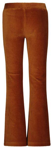 kinderlegging flared rib bruin 146/152 - 30836735 - HEMA