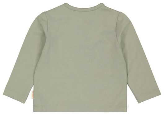 newborn t-shirt met bamboe giraf groen groen - 1000023448 - HEMA