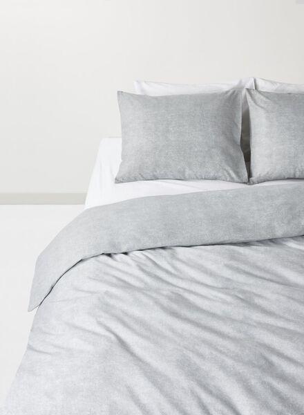 dekbedovertrek - flanel - 240 x 220 cm - grijs - 5710063 - HEMA