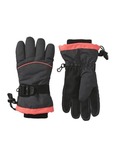 kinder skihandschoenen grijs grijs - 1000009647 - HEMA