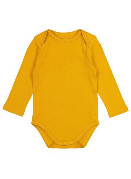 rompers katoen - 4 stuks geel geel - 1000017381 - HEMA