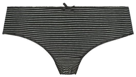dameshipsters 3 stuks zwart XL - 19645144 - HEMA
