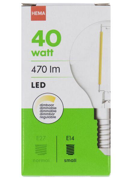 LED lamp 40W - 470 lm - kogel - helder - 20020029 - HEMA