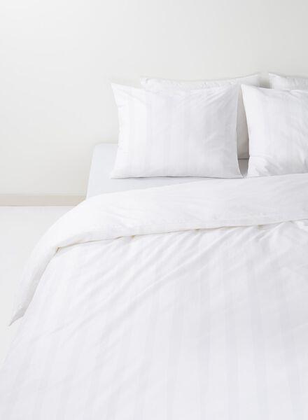 dekbedovertrek - hotel katoen satijn - 140 x 200 cm - wit wit 140 x 200 - 5700119 - HEMA