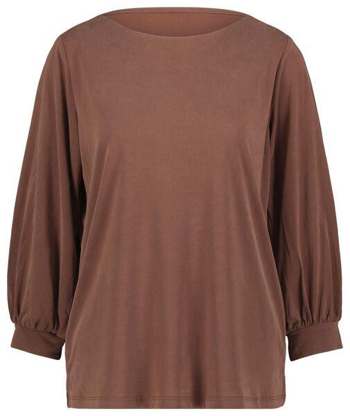 dames top chocoladebruin chocoladebruin - 1000022112 - HEMA