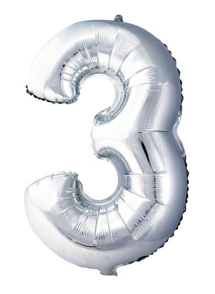 XL folie ballon cijfer 3 - 60800155 - HEMA