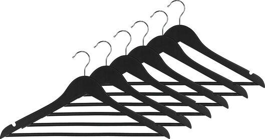 kledinghangers hout zwart - 6 stuks - 39820500 - HEMA