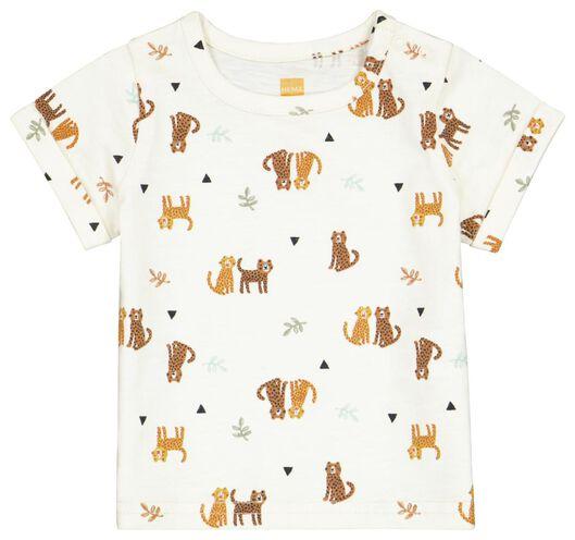 newborn t-shirt cheetah wit wit - 1000024085 - HEMA