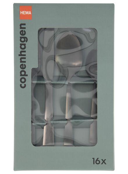 16-delige bestekset copenhagen zwart - 9905063 - HEMA