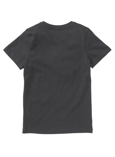 kinder t-shirt antraciet - 1000008232 - HEMA