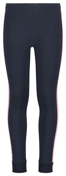kinderpyjama strepen donkerblauw donkerblauw - 1000022775 - HEMA