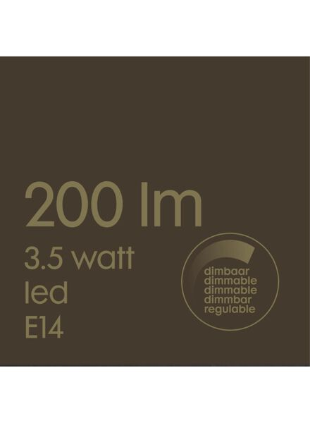 LED lamp 3,5W - 200 lm - kaars - goud - 20020074 - HEMA